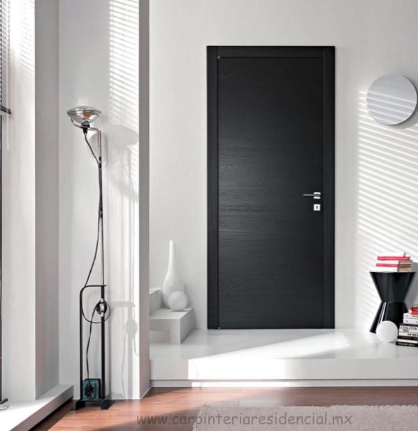 Puertas interiores de madera carpinteria residencial slp for Puertas modernas para interiores