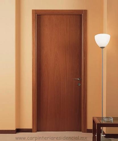 Puertas interiores de madera carpinteria residencial slp for Ver puertas de interior