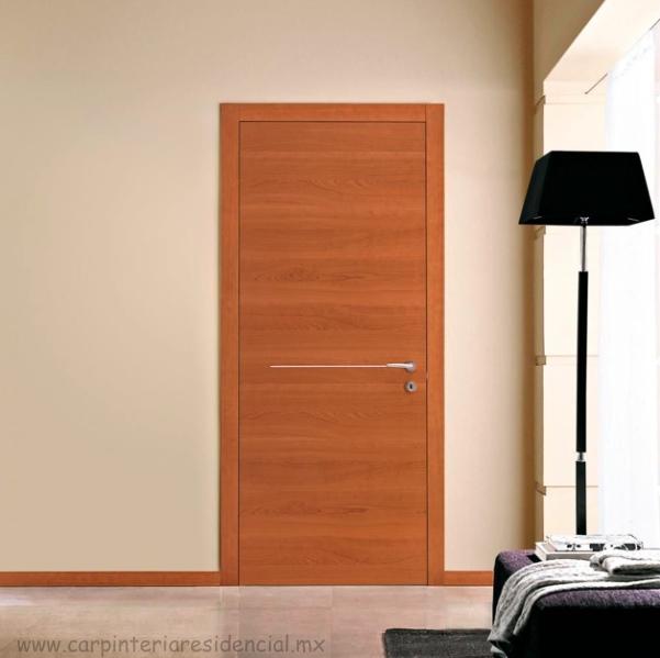 Puertas interiores de madera carpinteria residencial slp for Disenos puertas de madera exterior