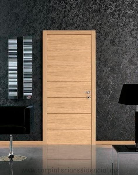 Puertas interiores de madera carpinteria residencial slp for Puertas de tambor modernas