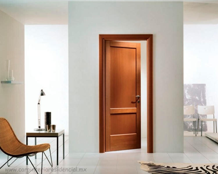 Puertas interiores de madera carpinteria residencial slp - Puertas de madera interiores ...