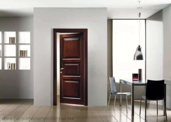 Puertas interiores de madera | Carpinteria Residencial SLP