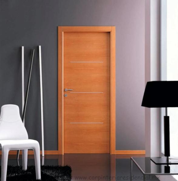 Puertas interiores de madera carpinteria residencial slp - Puertas exteriores madera ...