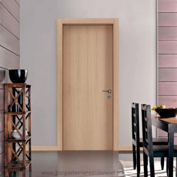 Puertas interiores de madera carpinteria residencial slp for Interiores minimalistas