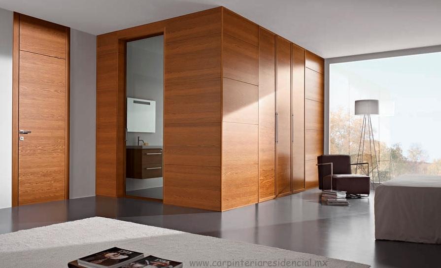 Puertas interiores de madera carpinteria residencial slp for Puertas interior modernas