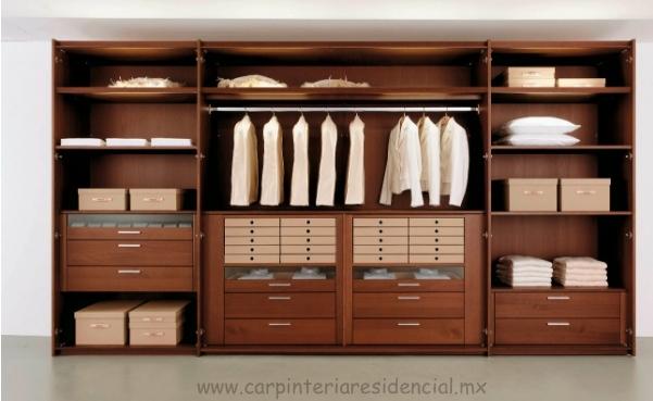 Closets y vestidores carpinteria residencial slp - Madera a medida ...