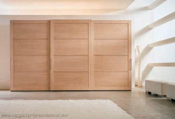 Closets carpinteria residencial slp for Closet de madera para dormitorios