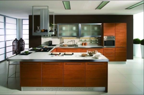 Cocinas integrales carpinteria residencial slp for Barras para cocinas integrales