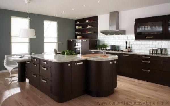 Cocinas integrales carpinteria residencial slp for Cocinetas para cocinas pequenas