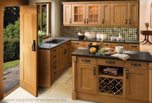 Cocinas integrales carpinteria residencial slp for Cocinetas de madera