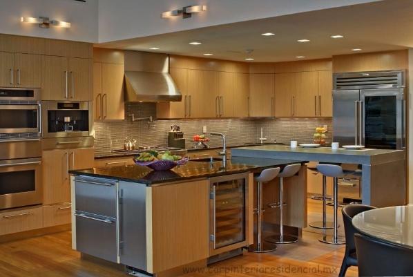Cocinas integrales carpinteria residencial slp for Cocinas grandes modernas