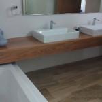 mueble base lavabo madera