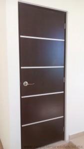 puerta de madera con aluminio san luis potosi