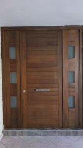 puerta exterior de madera de banak san luis potosi