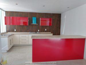 cocina moderna hecha por carpinteria residencial san luis potosi