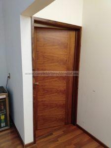 puerta interior de madera de carpinteria residencial san luis potosi
