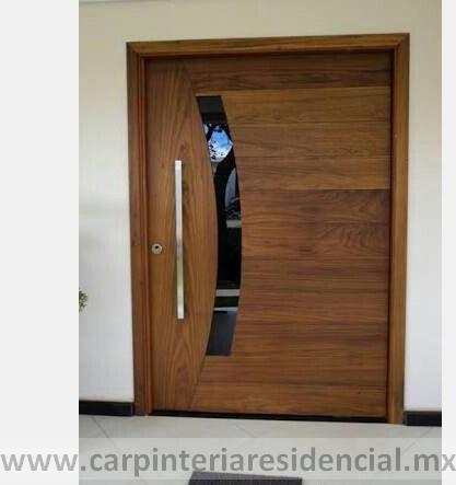 Puerta exterior de madera moderna san luis potosi