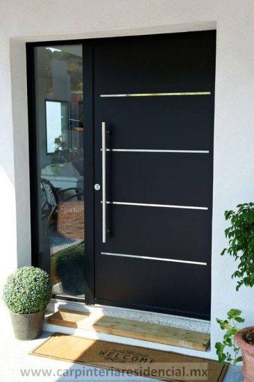 Puerta exterior moderna con fijo en San Luis Potosi