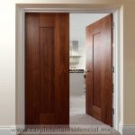 puerta exterior moderna de madera mexico