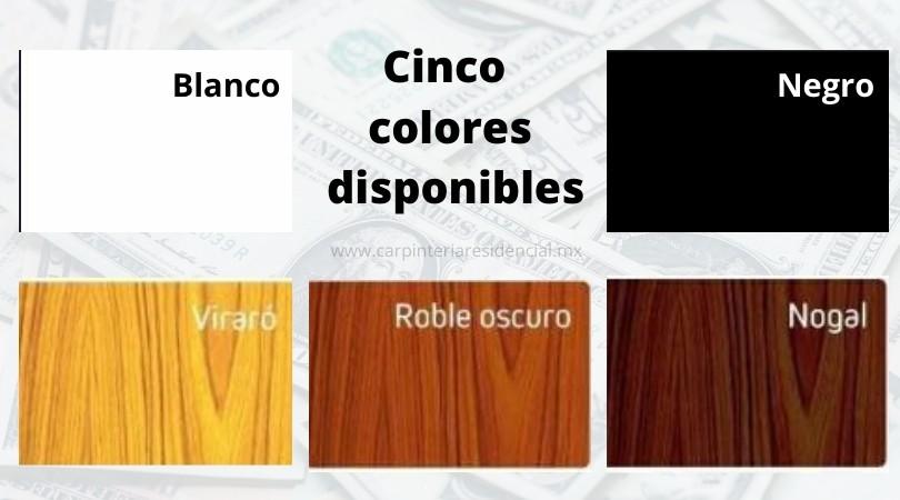 Colores disponibles mampara anticontagios