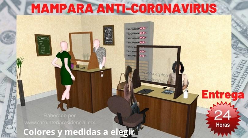 Mampara anti coronavirus