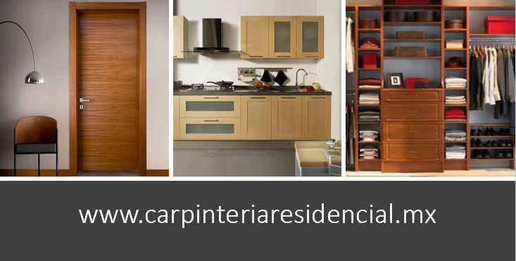 carpinteria residencial closets vestidores cocinas puertas slp san luis potosi modernos