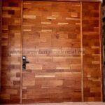 puerta semisolida de cedro con visagra de cierre lento carpintero slp