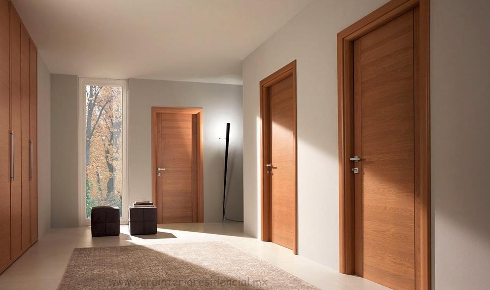 Puertas interiores de madera carpinteria residencial slp for Interior de la casa de madera moderna