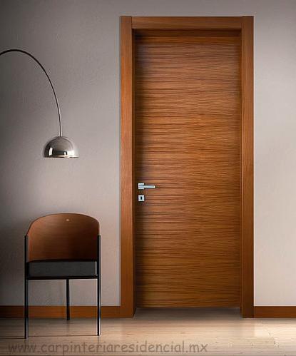 Puertas interiores de madera carpinteria residencial slp for Puertas de madera interiores modernas