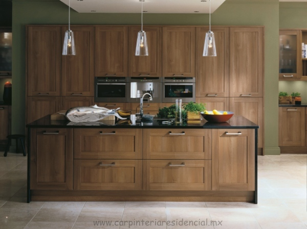 natural walnut kitchen cabinets cocinas integrales carpinteria residencial slp 3458