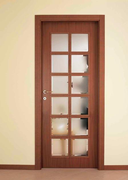 Puertas de madera con vidrio carpinteria residencial slp for Vidrios decorados para puertas interiores